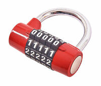 COMBINATION PADLOCK 5 DIGIT * POSITIVE CLICK * SUITABLE FOR LOCKERS/GYM SECURITY