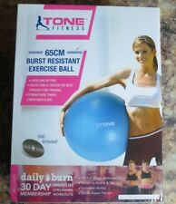 Tone Fitness Exercise Ball 65cm Burst Resistant Dvd Included New Free Shipping