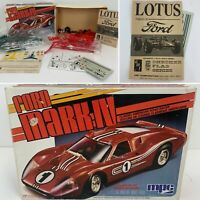 MPC Ford Mark lV (w/box) and AMT Lotus By Ford Model Kits Unbuilt!