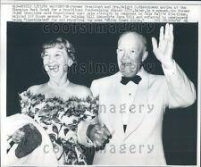 1962 President Dwight & Mamie Eisenhower Press Photo