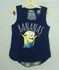Despicable Me Minion Size M Tank Top Bananas Hi Low Sheer Back