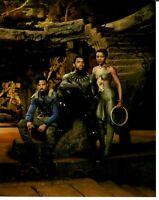 "RARE! ""Black Panther"" Chadwick Boseman +2 Cast Signed 8X10 Color Photo COA"
