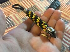 Tactical Paracord knife lanyard with Stainless skull beads Busse paracord d2 zt.