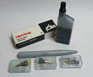 Vintage Uno Unotech 3 Pen Nibs. Unused, Sizes - No 1, 2, 3. 1 Nib Holder + Ink