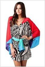 NWT GOTTEX ZANZIBAR 100% SILK SWIMSUIT COVER-UP DRESS TUNIC, SIZE MEDIUM