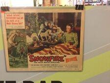 SNOWFIRE-LOBBY CARD 5-1958
