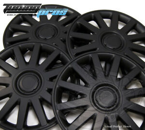 """Snap-On Hubcap 17"""" Inch Wheel Rim Skin Cover 4pcs Matte Black - 17 Inches #610"""