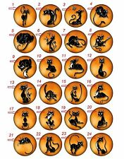 "Wholesale Collectable Set 24 1.25"" Pinback Button Badge Funny Cats /Approx. 32mm"