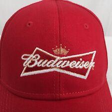 New Vintage Budweiser Beer Trucker Hat Snapback Cap Embroidered Script Red