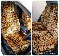 Seat Leon  - Gold Tiger Faux Fur Furry Car Seat Covers - Full Set