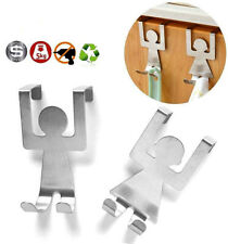 Over The Door Hooks Stainless Steel Kitchen Drawer Hanger New Human Shape New