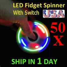UPGRADE VERSION SWITCH CONTROL 3 MODE LED HAND SPINNER EDC TOY FIDGET LOT OF 50X