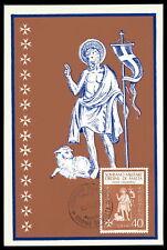 MALTESERORDEN SMOM S.M.O.M. MK 1966 MAXIMUMKARTE CARTE MAXIMUM CARD MC CM cv21