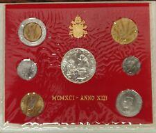 VATICANO MONETE - GIOVANNI PAOLO II - 1991 ANNO XIII FDC SERIE DIVISIONALE
