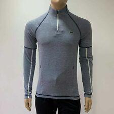 Lacoste Sport Tennis Mens T Shirt Long Sleeves Zip Neck Sh7194 Large