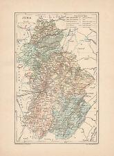 C9040 France - JURA - Carta geografica antica - 1892 antique map