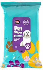 Pet Hygiene Wet Wipes Dog Puppy Paw Ear Body Cleaning Head Grooming 50 Pack New