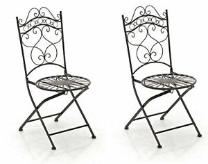 #R46236/0607 2x Stuhl Indra bronze Gartenstuhl Terrassenstuhl Eisenstuhl