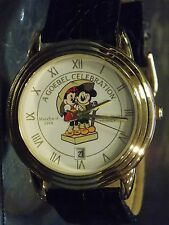 Mens Vintage Disney Croton Mickey and Minnie Mouse Watch (Goebel Day)-(Date)-New
