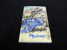 1979 Jeep CJ owner's manual