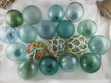 18 Vintage Japanese Glass floats <'}< Big Variety Alaska Beachcombed