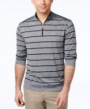 Mens Greg Norman Play Dry Blue Socket Stripe 1/4 Zip Golf Pullover Shirt XXL