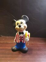 """Vintage Walt Disney Productions Mickey Mouse Ceramic Statue 9"""" Hand Painted"""