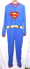 D.C.Comics SUPERMAN One-Piece Pajamas w/Cape_Zip-Up_Long Sleeve/Long Pants_Sz.L