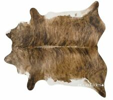 Brindle White Belly Brazilian Cowhide Rug Cow Hide Area Rugs Leather Size XXL