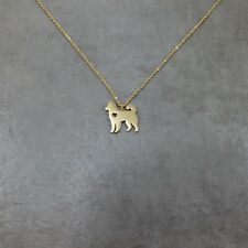 Husky Dog GOLD Plated Necklace Gift Box Siberian Pet Breed Canine Russian