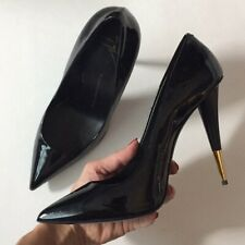GIUSEPPE ZANOTTI Black Patent Pump Cone Heels 40