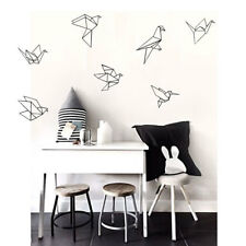 Nordic Style Geometry 1000 Paper Crane Wall Stickers Vinyl Decal Mural Decor