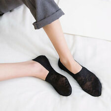 Women Style Lace Flower Short Sock Anti skid - NON SLIP Invisible Ankle 5 Pairs