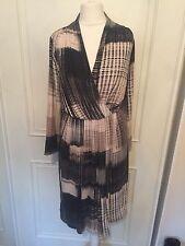 Viscose V Neck 3/4 Sleeve Striped Dresses for Women