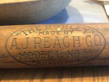 "Antique Vintage Baseball Bat A.J. Reach CO. ""The Burley""  Model L No. 5/0 1900"