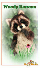 Mohair Realistic Raccoon, Bear Making Pattern, DIY Raccoon, Sewing, jointed