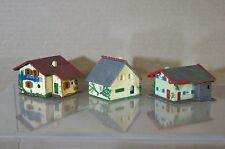 FALLER KIBRI N SCALE DB SBB SMALL TWO STORY COUNTRY FARM HOUSE MODEL x3 SET 3 mv