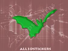 Pegatina Murcielago 3D Relieve - Color Verde