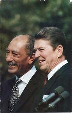 Postcard President Ronald Reagan Egyptian President Sadat 1981