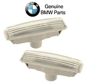 For BMW E39 Pair Set of Front Left & Right Additional Side Lights w/ White Lens