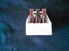 "Vintage Pepsi Miniature 6 Pack Carton With Bottles / 1 1/2"" Tall Bottles"