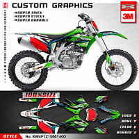 Dirt Bike Stickers MX Graphics Kit Decals for KXF450 KX450F 2012 2013 2014 2015