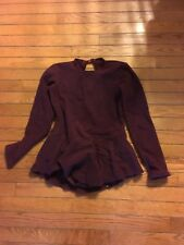 Capezio Maroon Ice Skating outfit Large girls