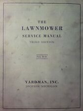 Yard Man Craftsman Walk Behind Reel Rotary 1953 Lawn Mower Major Service Manual