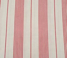 "25"" Collection of Edelin Wille Marcus Brothers Red on Off-White Stripe"