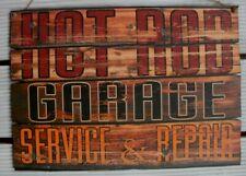 HOLZSCHILD-DEKO-SHABBY-VINTAGE-50s-DINER-SIGN-V8-US CAR-HOT ROD-SERVICE-BAR