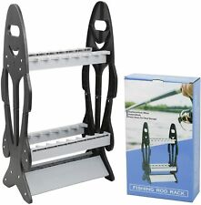 Fishing Pole Floor Display Rack Standing Storage Organizer for 16 Rods and Reels