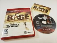 Rage (Sony PlayStation 3, 2011) Greatest Hits PS3 Game Complete w/ Manual TESTED