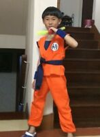 Dragon Ball Z GOKU Anime Costume Cosplay 4 size For Child Children +TRACk NO