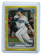 Niko Hulsizer Bowman chrome Canary Yellow refractor #42/75 Tampa Bay Rays